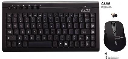 Комплект Клавиатура мышь L-PRO 20605/1253 Радио USB black Мультимедиа