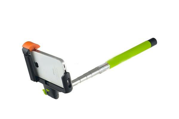 Perfeo M6 Selfie Stick/ 20-102 cm/ Big holder/ BT 3.0/ Green